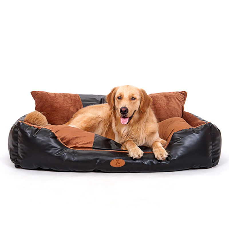 super large leather dog bed for medium large dog plus size luxury comfortable sofa for golden - Dog Beds For Large Dogs