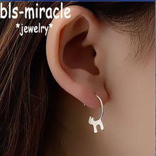 Bls miracle New Fashion Jewelry Accessories Silver Lovely Cat Earrings Best Gift For Women Girl Wholesale