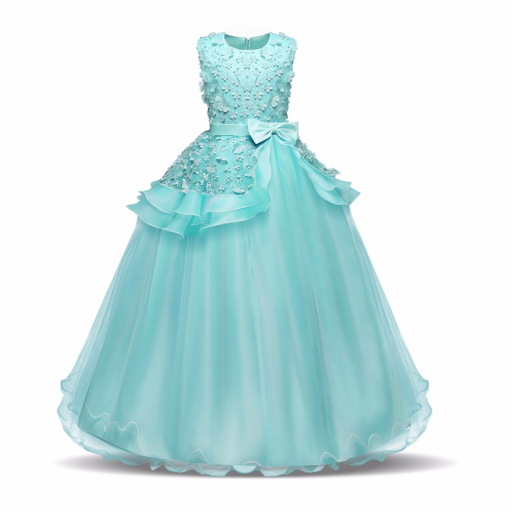 Graduation Gown Children Teenage Girls Ceremony Dresses Flower Girl ...