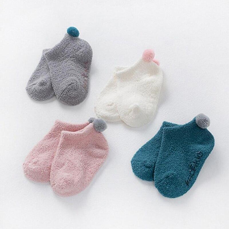 2017 Soft Warm Socks For Girls Boys Newborn Infant Socks Winter Warn Cotton Knitted Fleece Floor Socks A06-01---A06-06