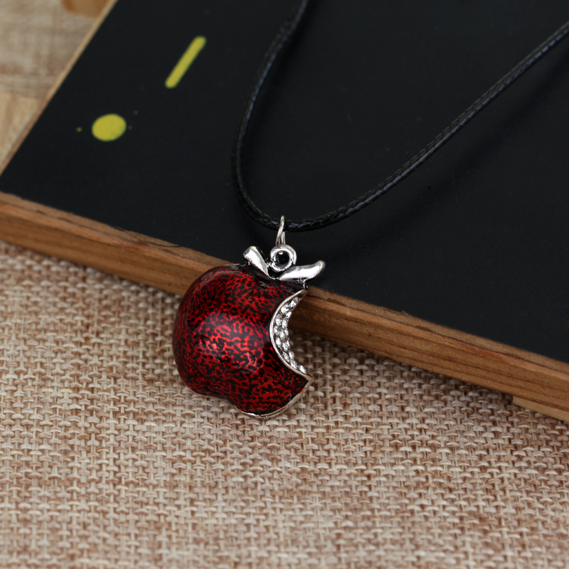 Image 5 - Wholesale 20pcs/lot Once Upon A Time Necklaces Snow White Regina Red Poison Apple Pendant Necklace Fashion Maxi Rope Chain Jewelrope chainfashion necklacenecklace fashion -