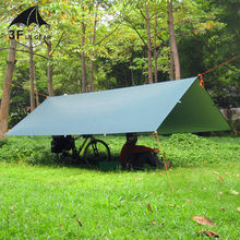 3F UL Gear Ultralight Tarp Outdoor Camping Survival Sun Shelter Tent Shade Awning Silver Coating Pergola Waterproof Beach Tent(China)