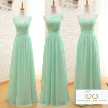 Hot Sale Chiffon Three Styles Many Color A Line Simple Elegant Cheap Long Girls Coral Mint Green Bridesmaid Dresses BW01