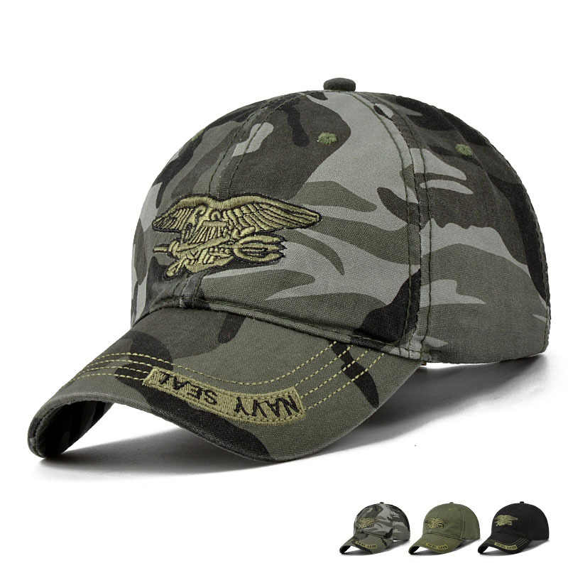 Navy Seal Tactical Baseball Caps Commando Caps Gorras Mens Special Forces Soldier Hats Airsoft Sniper Camouflage Camo Visor Hats