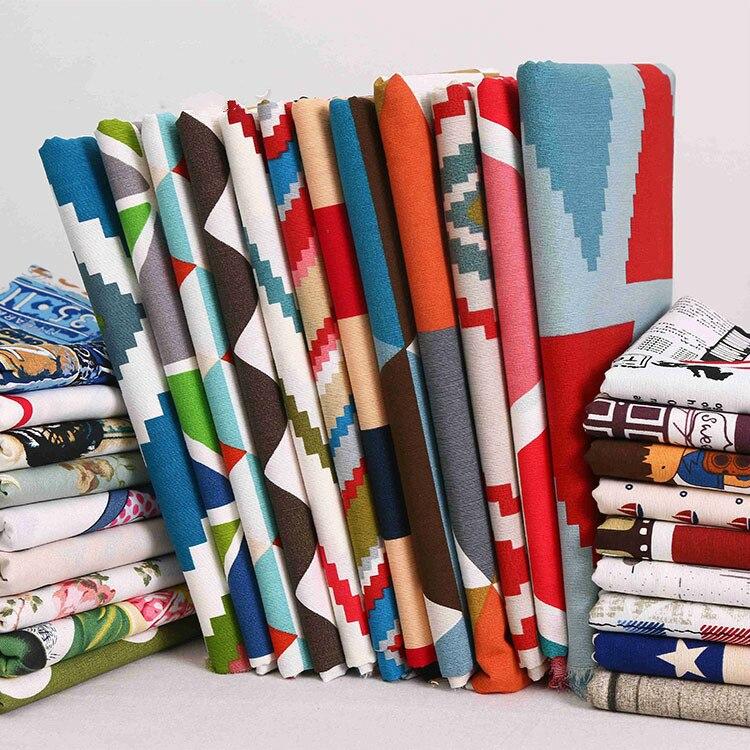 150 см напечатанная хлопчатобумажная скатерть холст ткань толстая хлопковая самодельная занавеска диван наволочка простыня ткань Лоскутная Ткань