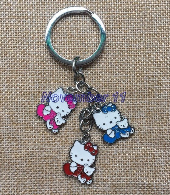 friend keychain figures string kitty hello metal chains jewelry for pendants lot item accessories key
