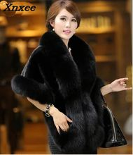 Xnxee 2018 New Winter Autumn Womens Mink Cloak Rabbit Faux Fur Coat Femme  jacket Artificial Fake Outwear