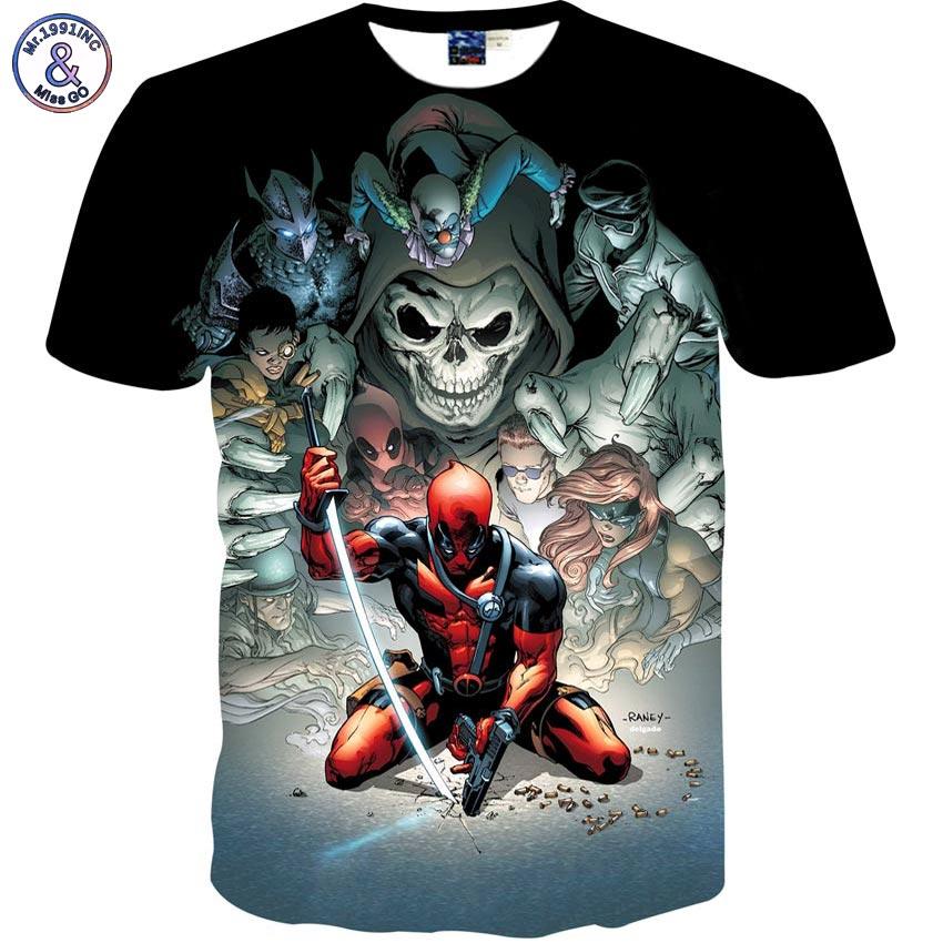 Mr.1991INC Japanese Anime cartoon men/boy t-shirt 3d print warrior skulls fashion brand t shirt summer tops tees shirt