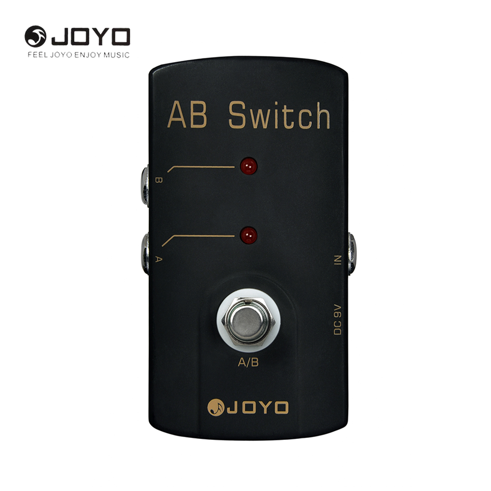 JOYO JF-30 AB Switch Electric Guitar Effect Pedal Box True Bypass Musical Instrument Guitar Accessories joyo jf 37 guitar effect pedal analog chorus electric true bypass guitar audio pedal box musical instrument accessories