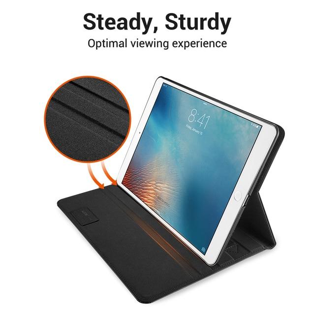 ESR Premium caso de cuero de la PU para el iPad Pro 10,5 3 cubierta de negocios Folio Stand bolsillo Auto despertar inteligente iPad aire caso de iPad 3 2019