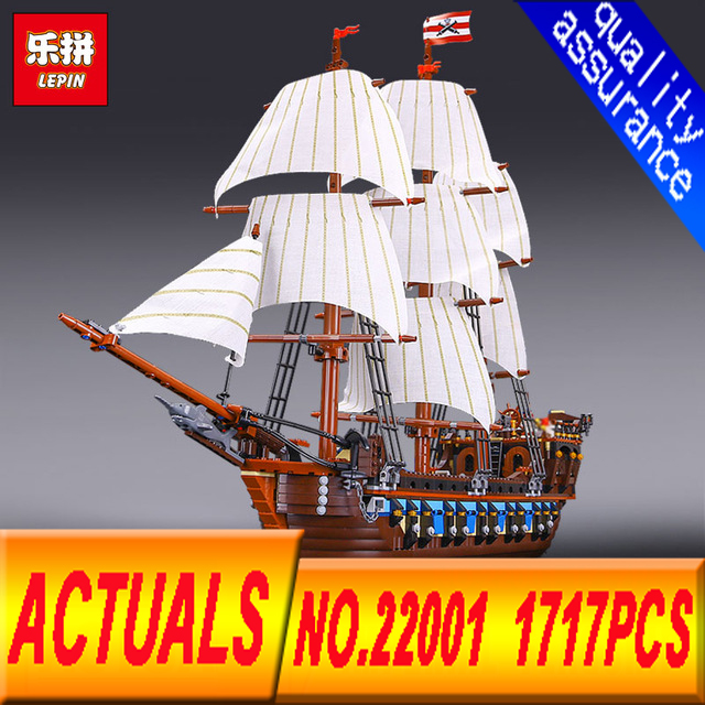 Lepin 22001 pirates of the caribbean Black Pearl ship  Glys model building kits blocks 1717pcs Compatible 10210 birthday present lepin compatible 16009 1151pcs pirates of the caribbean queen anne s reveage model building kit blocks brick toys for kids 4195