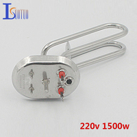 110mm 80mm Cap 220v 1500w Electric Heating Tube With Temperature Control Hole Heating Element Boiler Stainless