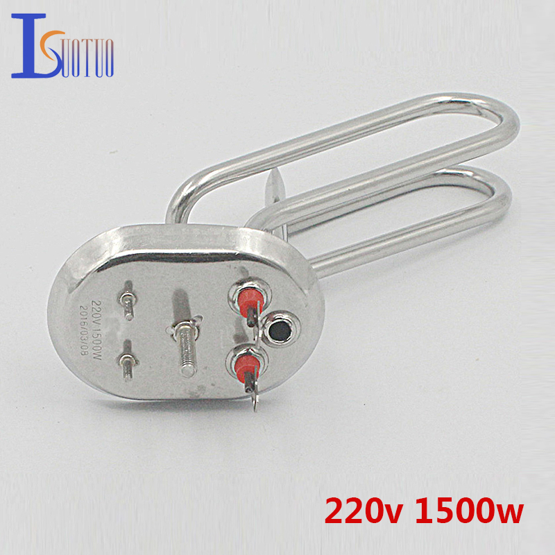 110mm*80mm cap 220v 1500w electric water heater tube heating element boiler stainless steel heater parts ac380v 6kw 6p terminals water boiler heating element 3u tube heater