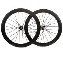 700C 60 Mm Độ Sâu Đĩa Xe Carbon Bánh Xe 25 Mm Rộng Clincher/Hình Ống Đường Đĩa Cyclocross Xe Đạp Carbon Wheelset
