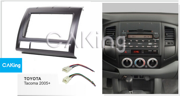 Double Din Car Fascia Radio Panel Harness For Toyota