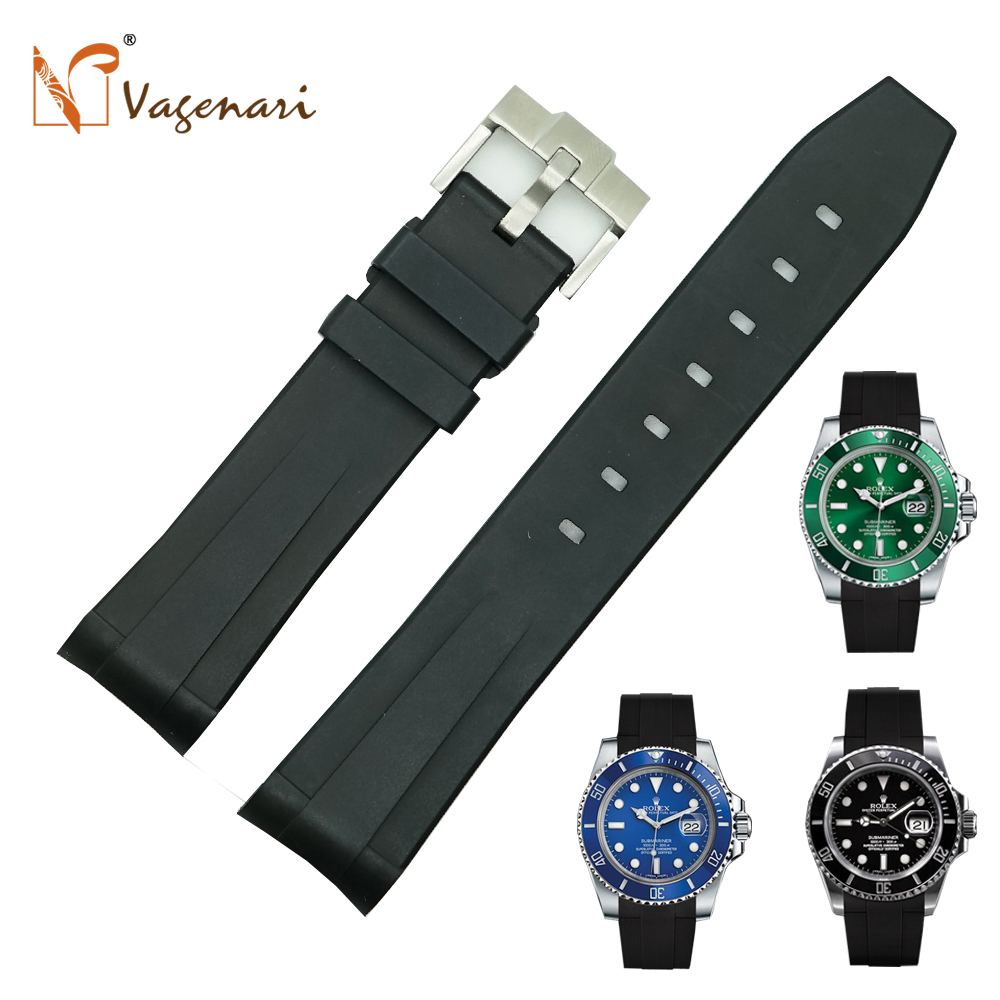 Rolex Rubber Us 196 99 Ru 01 New Arrival Black Rubber Watch Bands For Rolex Submariner With Tang Buckle In Watchbands From Watches On Aliexpress Alibaba
