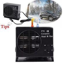 미니 에어컨 12V 자동차 휴대용 2 1 전기 팬 및 히터 300W Defroster Demister 빠른 가열 속도
