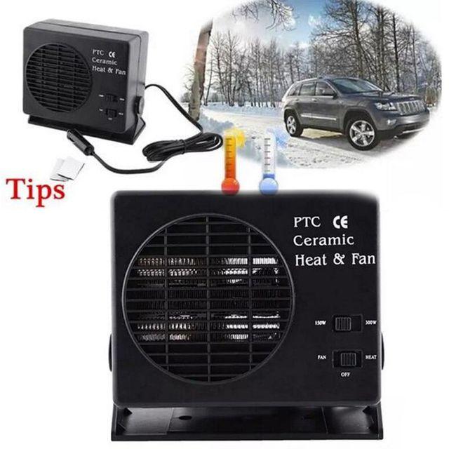 Araba Için Mini Klima 12V Araba Taşınabilir 2 in 1 Elektrikli Fan ve Isıtıcı 300W Buz Çözücü Demister hızlı Isıtma Hızı