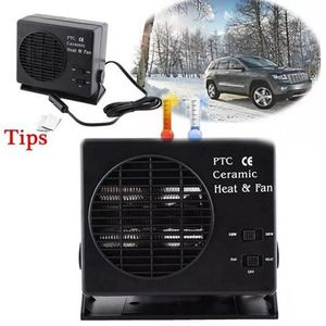 Image 1 - Mini Air Conditioner For Car 12V Car Portable 2 in 1 Electric Fan and Heater 300W Defroster Demister Quick Heating Speed