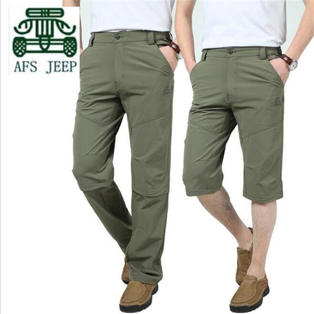 AFS JEEP 2016 Función Mutil Desmontable Pantalón Seco Original sueltas Marca Loose Pantalones, Verano Impermeable nuevo ocio Pantalones