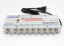 AC 220V ue wtyczka 8 way 20db CATV VCR TV antena wzmacniacz sygnału wzmacniacz Splitter 1 w 8 na zewnątrz