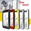 LOVE MEI Powerful Drop Dirt Water Resistance Gorilla Glass Aluminum Metal Armor Case For Sony Xperia