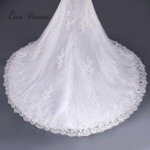 Image 5 - ואגלי תחרת בת ים שמלות כלה Vestido דה Noiva שרוולים קריסטל 2020 משפט רכבת בתוספת גודל לבן שמלות כלה WX0081