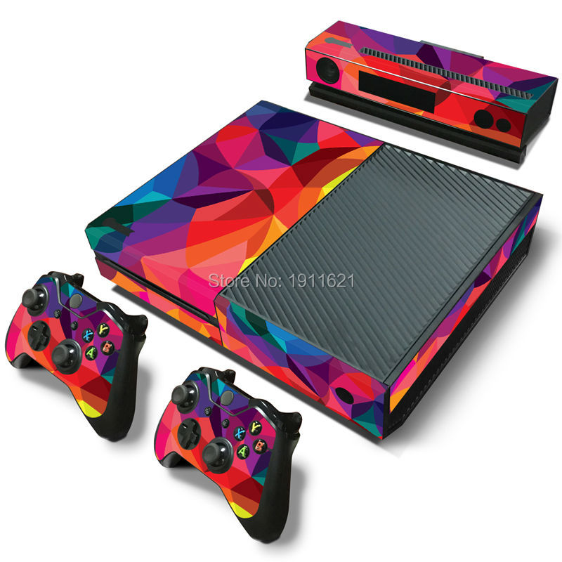 OSTSTICKER COLORFUL Skin Wrap Decal Sticker Accessory Cover for XBOX ONE 1 ...