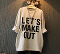wholesale (5pcs/lot)- 2016 autumn casual pockets letter  long design t shirt for child girl