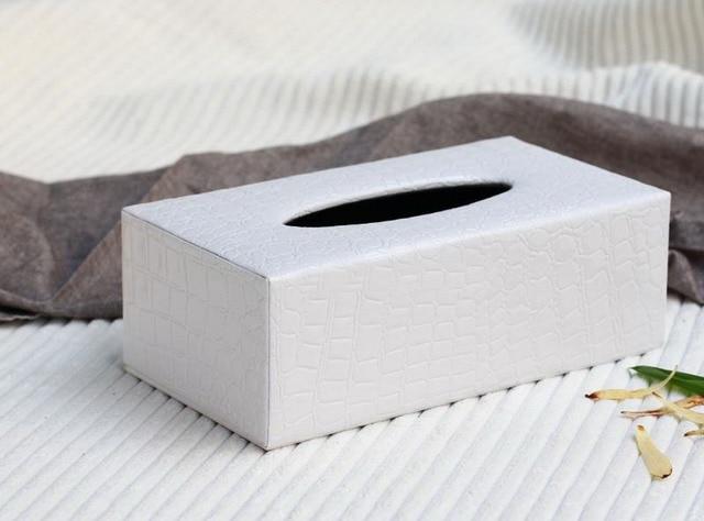 Home decor leather tissue box cover