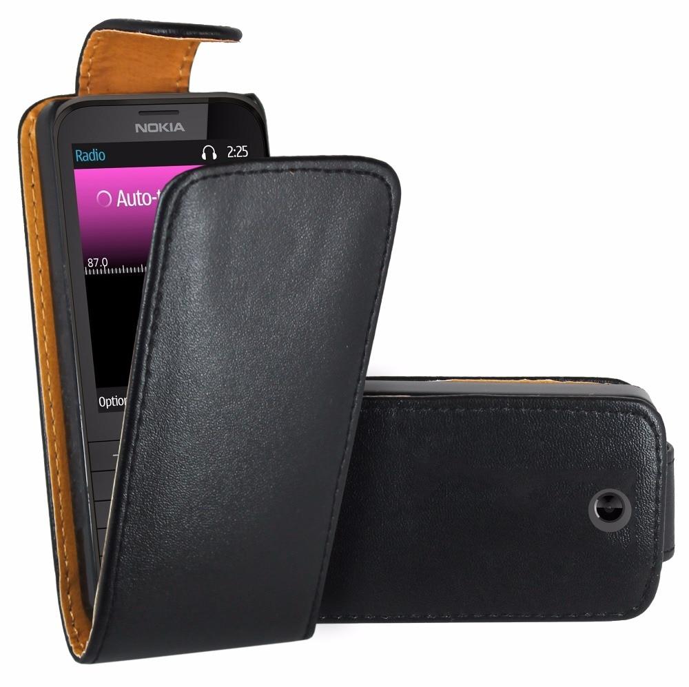 Кожаный чехол-книжка для Nokia 225 / Nokia 225 Dual Sim