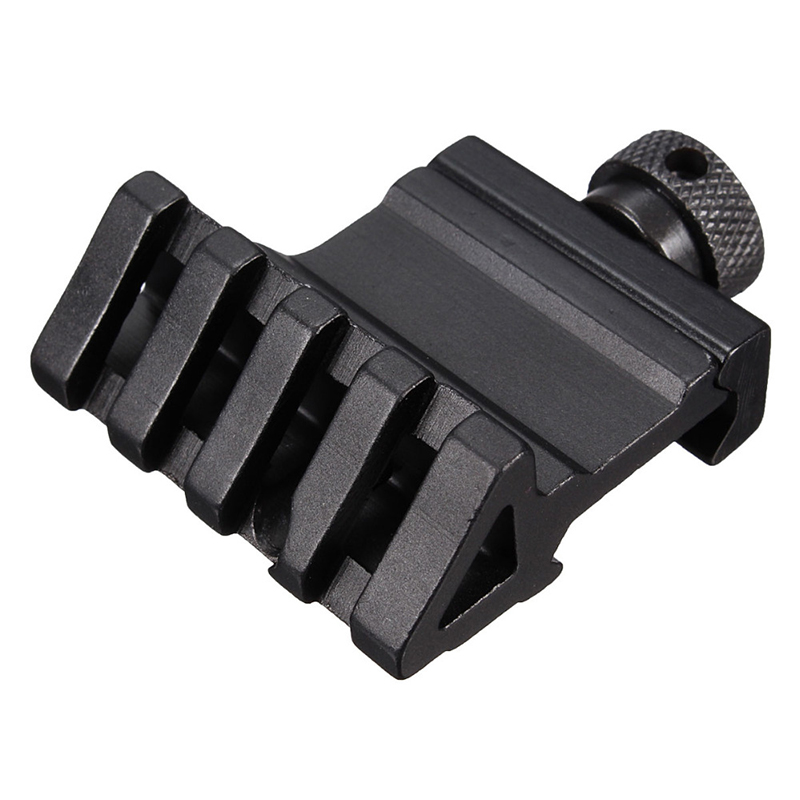 4 Slot angle of 45 degrees Offset Fit 20mm Rail Mount Quick Release Aluminum Alloy High Quality Hunting Tools Accessories New quick release aluminum alloy gun mount clips for 20mm rail black 2 pcs