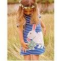 НОВЫЙ Платье Красивый Ребенок Платье Девушки Прекрасный Кролик Мультфильм Мода Платье