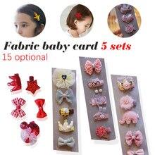 Fashion 5PCS/Pack Cartoon Crown Bow Girls Cute Hairpins Handmade Princess Barrettes Hair Headbands Kids Accessories