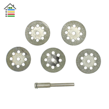 5pc 22mm Mini Diamond Grinding Wheel Blades Saw Sharpen Cutting Disc Cut Off With 3mm Rod Abrasive Disks Rotary Tools For Dremel