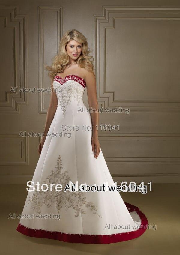 Aliexpresscom Buy White Red Burgundy Embroidery Beaded Wedding