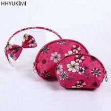 HHYUKIMI 3pcs/set Fashion Waterproof Cosmetic Bags Travel Portable Make Up Bag Women PVC Cosmetics Organizer Personal Wash bag
