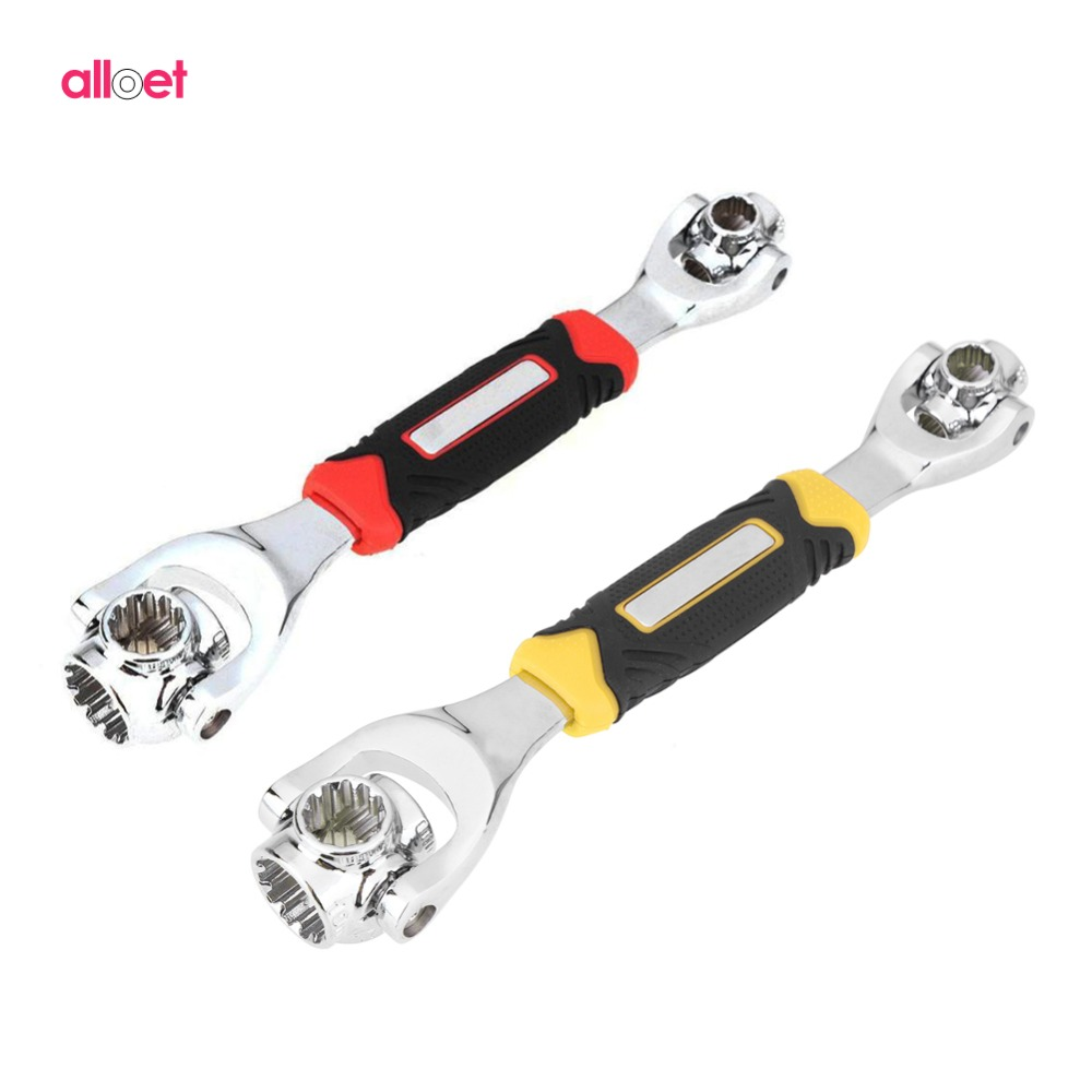 48 in 1 Tiger Wrench Wrench Tools Socket Works with Spline Bolts Torx 360 Degree 6-Point Hexagons Socket Car Repair Tools