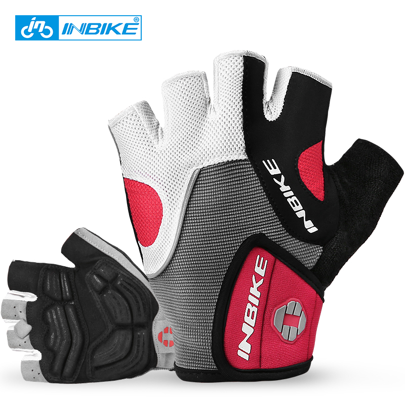 INBIKE Half Finger Cycling Gloves Bike Bicycle Gloves MTB Racing Cycle Gloves Riding GEL Padded Guantes Ciclismo Fitness Gloves