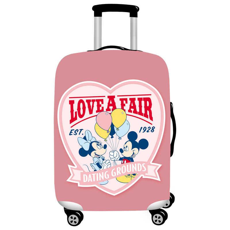 Эластичная Защитная крышка багажника с рисунком Микки, Dustproof18-32 дюймов, чемодан на колесиках, Защитные Чехлы, аксессуары для путешествий