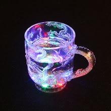 Светящаяся пивная чашка светодиодный светильник для вина китайский дракон креативный Декор подарок свадебный бар праздничный реквизит светящиеся игрушки