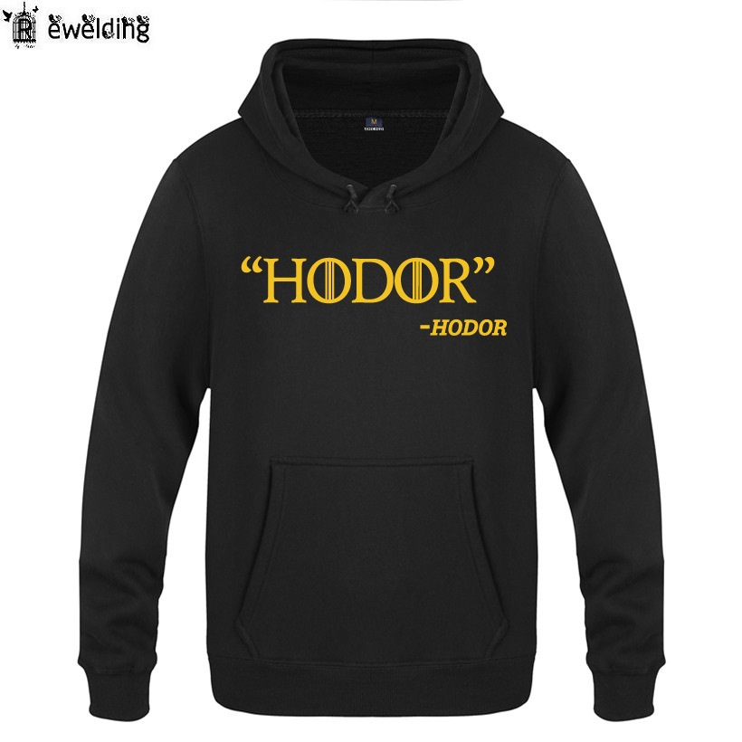 Mens Hoodies GAME OF THRONES HODOR Hoodie Men Fleece Long Sleeve Mans Sweatshirt Skateboard Pullover Moleton Masculino Winter