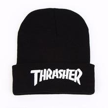 New Thrasher Beanies Cap 3D Letter Skullies Hats Street Head Wear Hiphop Winter Warm Wool Knitted Skateboard Caps Men Women