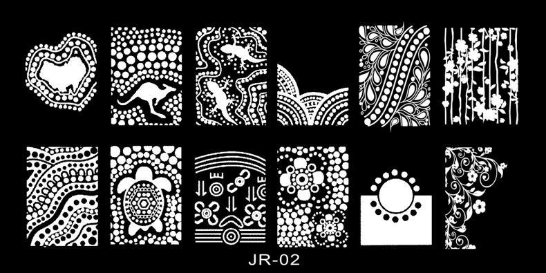 1 Stücke Jr02 Rechteck Edelstahl Schönheit Platte Für Stempel Stanzen Nägel Diy Nagel-kunst, Vorlage Platten Werkzeuge Jhc2343452 Gut FüR Energie Und Die Milz