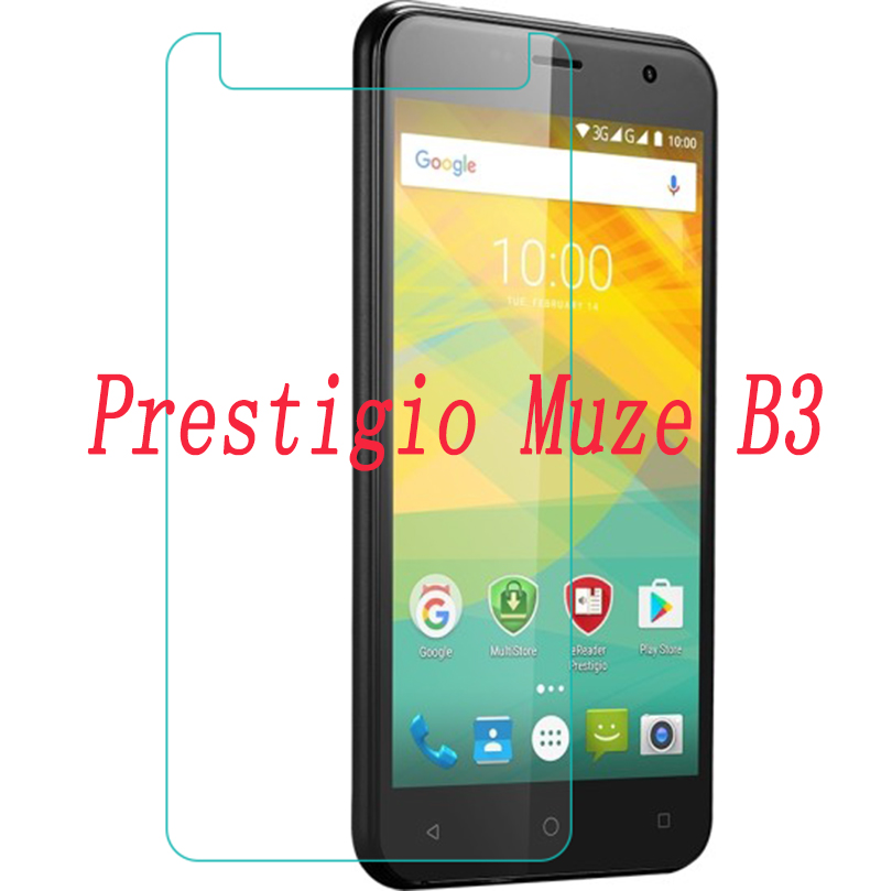 2PCS NEW Screen Protector phone For <font><b>Prestigio</b></font> Muze B3 DUO <font><b>PSP3512</b></font> PSP 3512 Tempered Glass SmartPhone Film Protective Cover image