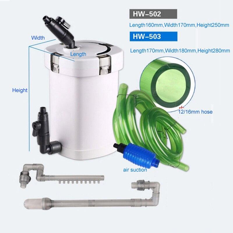 Sunsun HW 502 HW 503 with Built in 5W Water Pump Aquarium Fish Tank Complete Set External Filter Canister