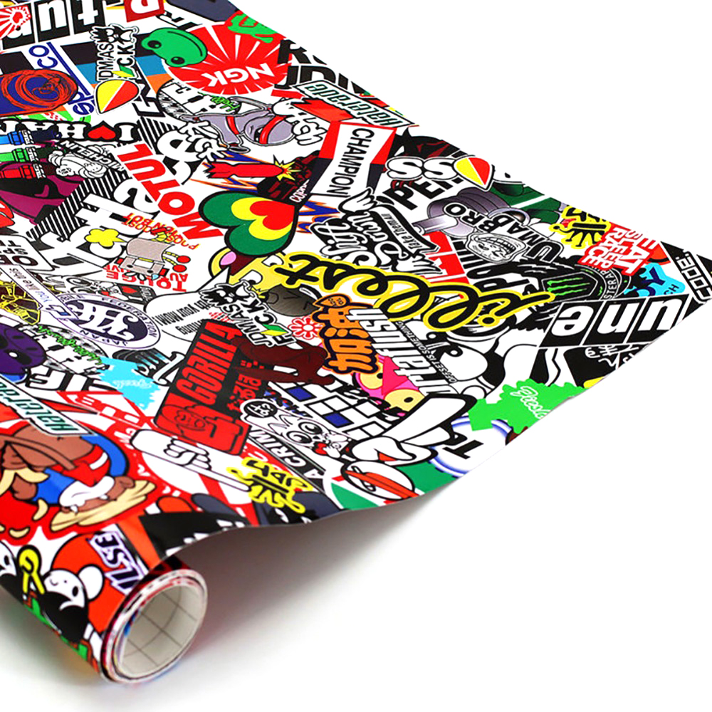 152cm x 50cm JDM Decals Cartoon Graffiti Car Sticker Graffiti for Car Motorcycle Bike Laptop Sticker Car Styling Car Sticker