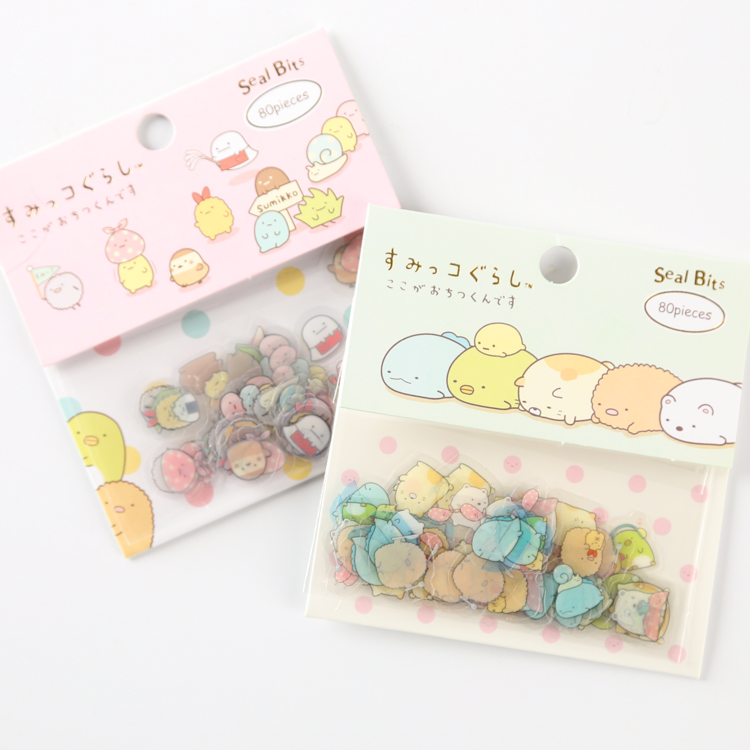 80 pcs/pack Cute Sumikko Gurashi Sealing Stickers Diary Label Stickers Pack Decorative Scrapbooking DIY Stickers 18mm round lead free packing rohs label stickers 15 x 50 pack