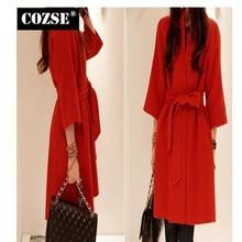 Slim Women Woolen Coat Fashion 2016 Korean Style Autumn And Winter Cloak Grid Coat Women Clothing Free Shipping  H335
