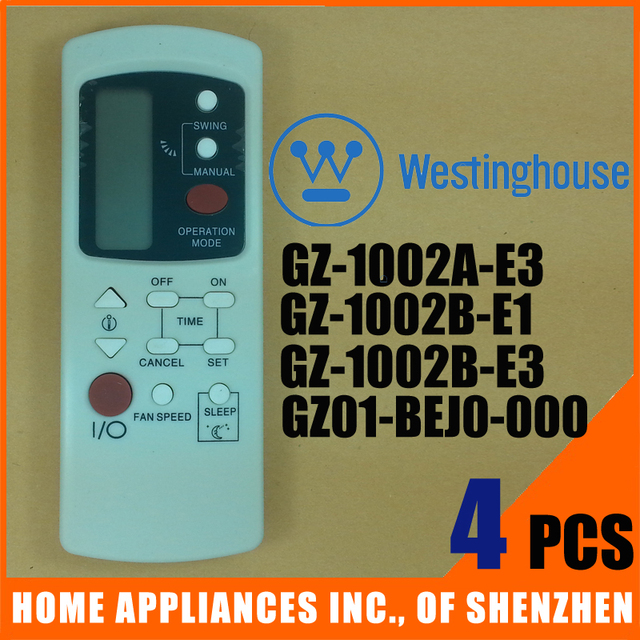 Westinghouse Split And Portable Air Conditioner Remote Controller Gz 1002a E3 1002b